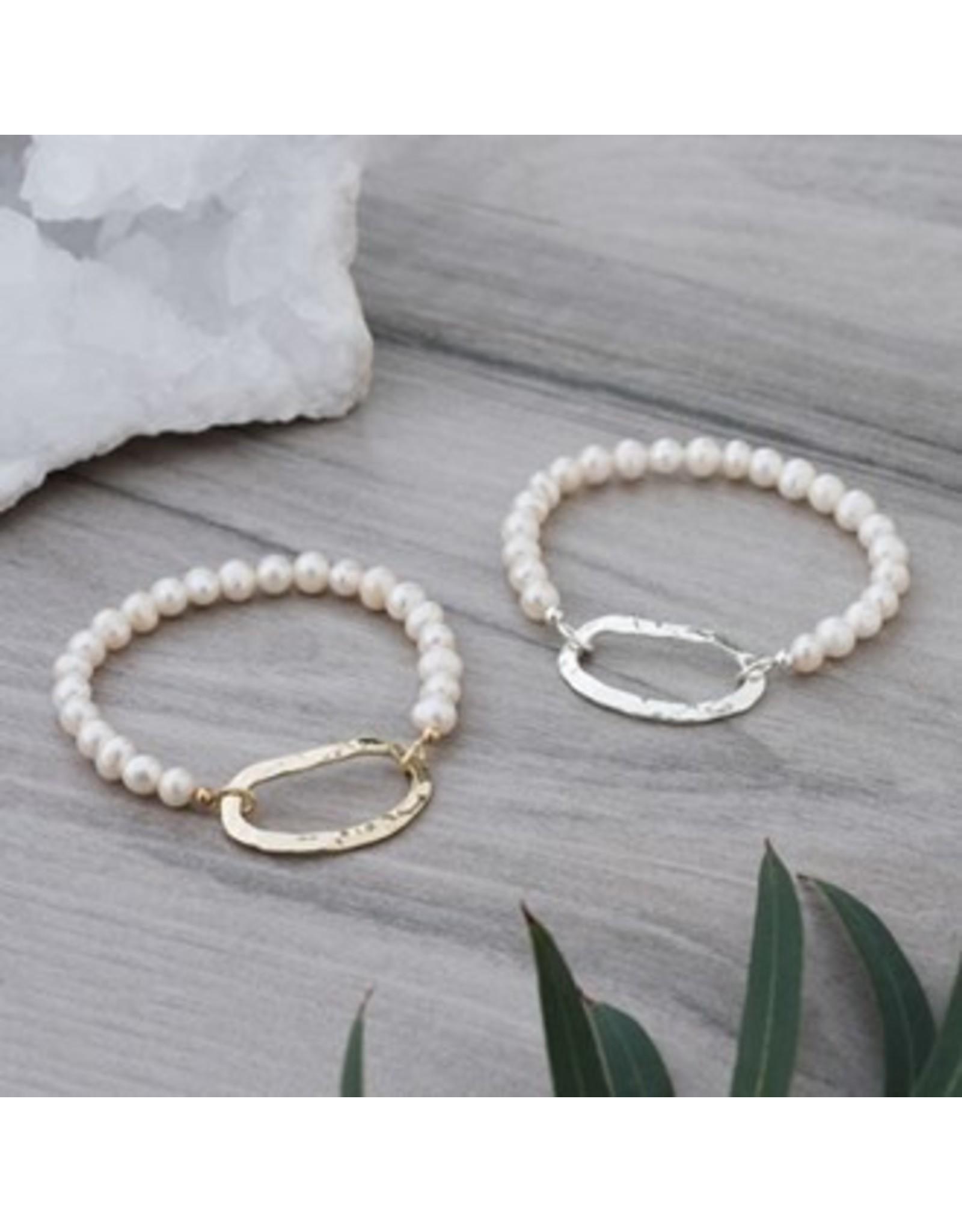 Glee jewelry Circuit Bracelet/White Pearl/Gold
