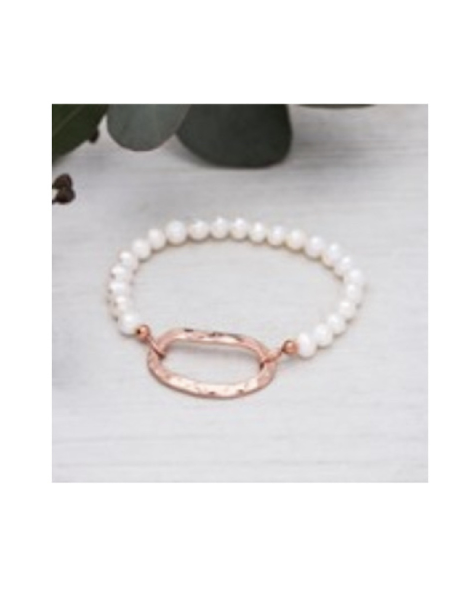 Glee jewelry Circuit Bracelet/White Pearl/Rose Gold