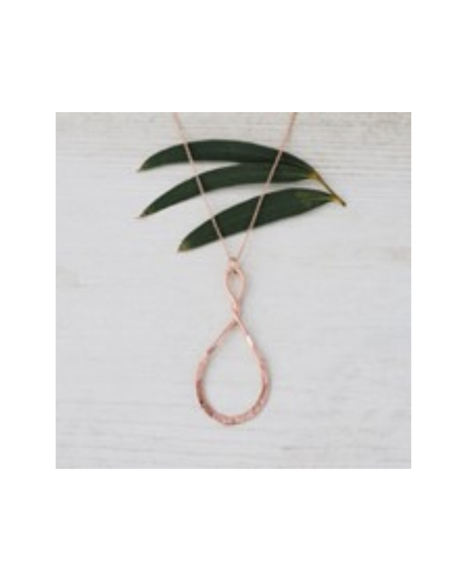 Glee jewelry Convolution Necklace/Rose Gold
