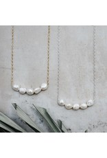 Glee jewelry Elene Necklace/White Pearl/Rose Gold