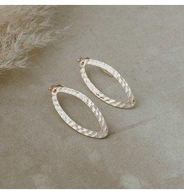 Glee jewelry Ellipse Earrings/Gold