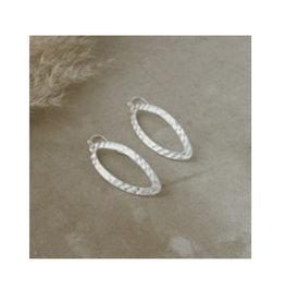 Glee jewelry Ellipse Earrings/Silver