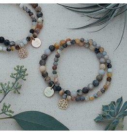Glee jewelry Stackem Up Bracelet, Rose Gold/Bamboo Leaf