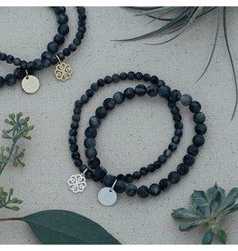Glee jewelry Stackem Up Bracelet Black Labratorite