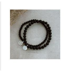 Glee jewelry Stackem Up Bracelet, Black Onyx/Silver