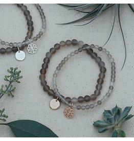 Glee jewelry Stackem Up Bracelet Grey Agate/Silver