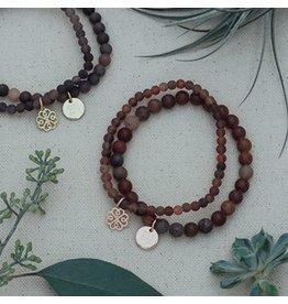 Glee jewelry Stackem Up Bracelet Purple Aventurine