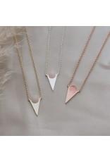 Glee jewelry Moon Child Necklace/Rose Quartz/Gold