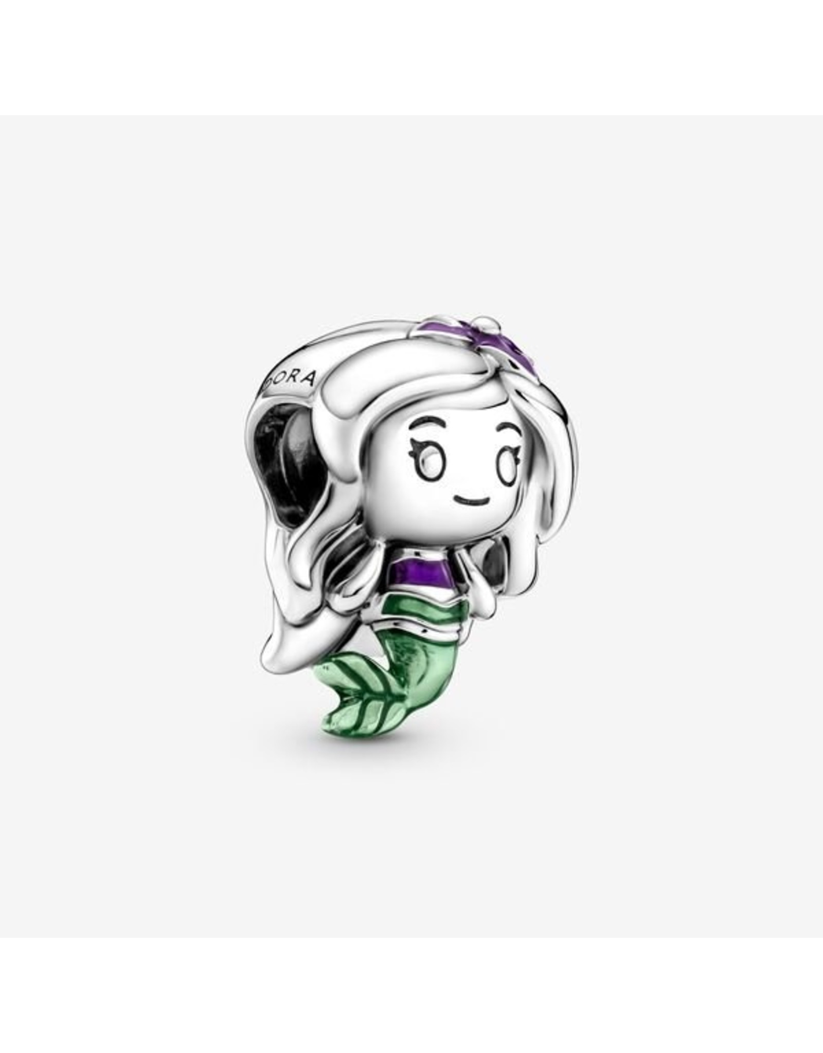 Pandora Pandora Charm, 799508C01 Disney The Little Mermaid Ariel, Purple & Green Enamel