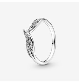 Pandora Pandora Ring, 199533C01, Sparkling Leaves, Clear CZ