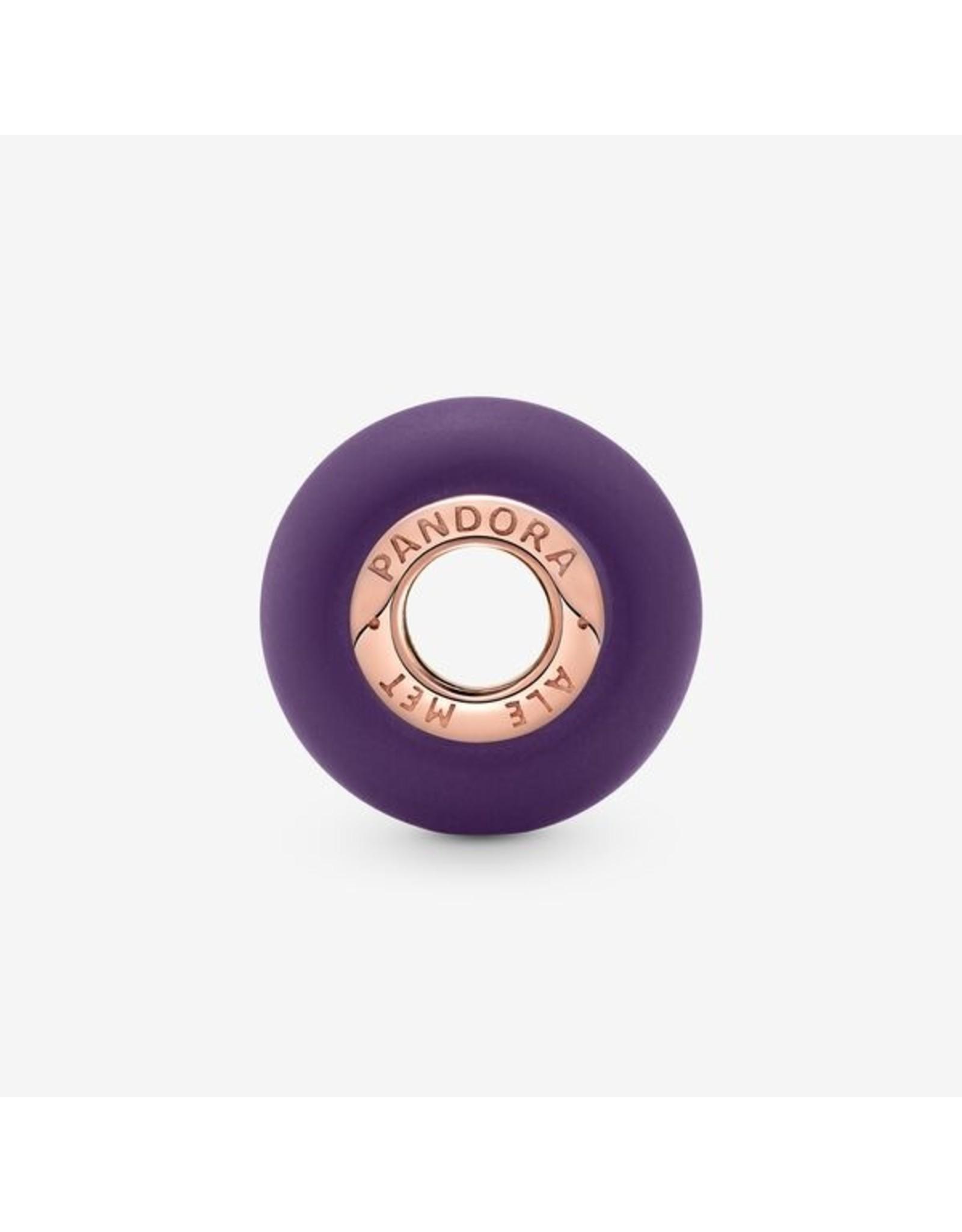 Pandora Pandora Charm, 789547C00, Matte Purple Murano Glass, Rose Gold