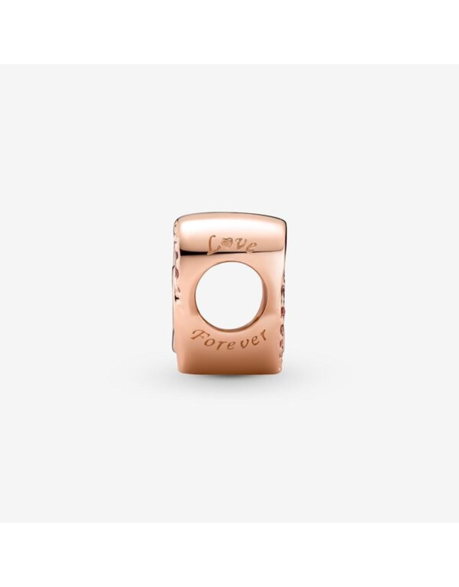 Pandora Pandora Charm,789529C01, Intertwined Love And Hearts Pink CZ, Rose Gold