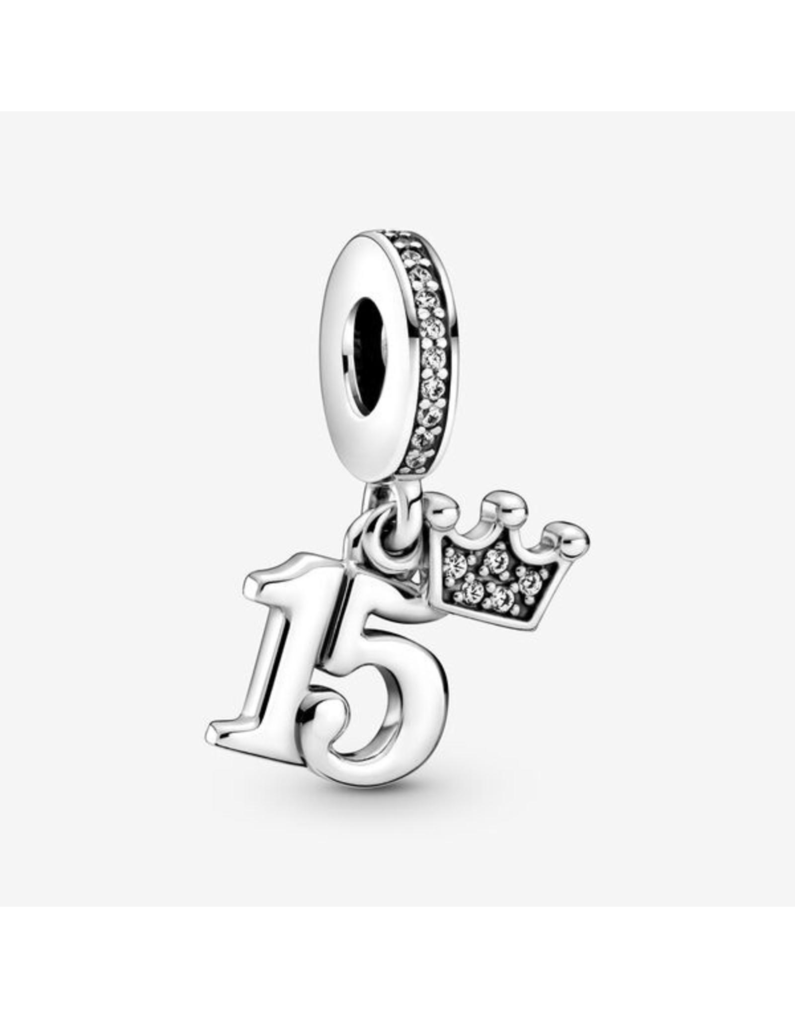 Pandora Pandora Charm,799540C01, 15th Birthday Dangle, Clear CZ