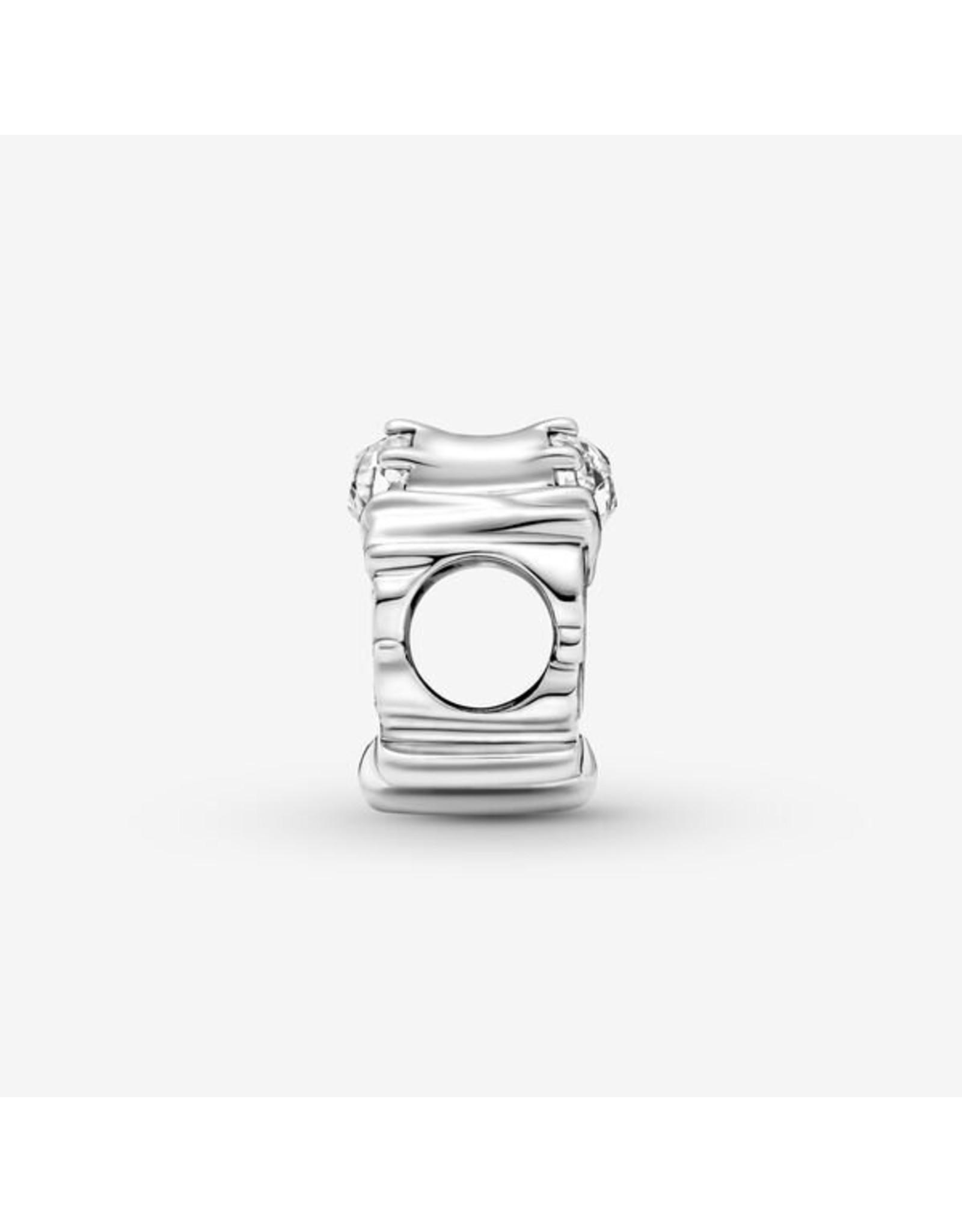 Pandora Pandora Charm,799524C01, Openwork Dancing Queen Charm, Clear CZ