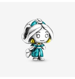Pandora Pandora Charm,799507C01, Disney Aladdin Jasmine, Yellow And Glittery Blue Enamel