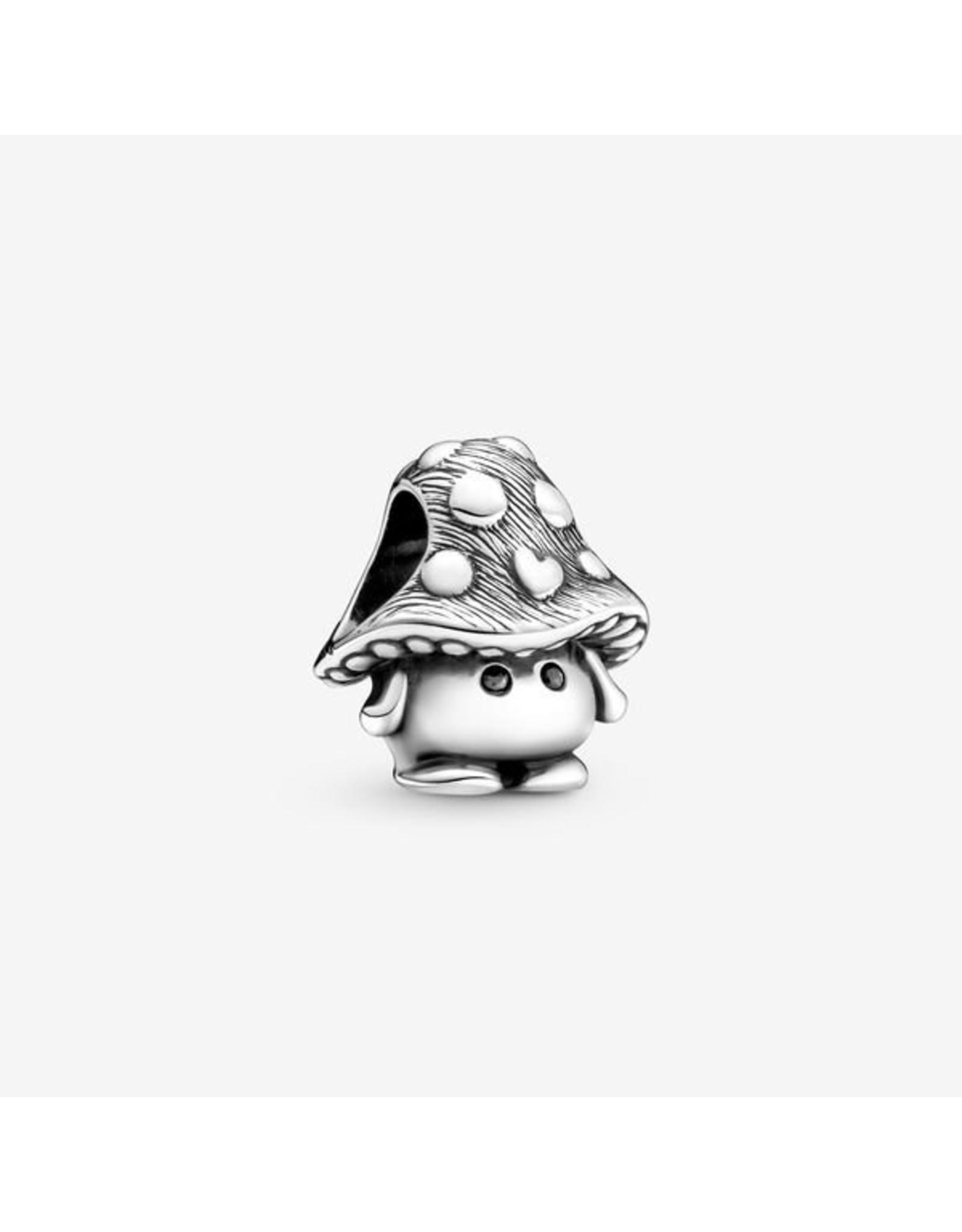 Pandora Pandora Charm,799528C01, Cute Mushroom, Black Crystal