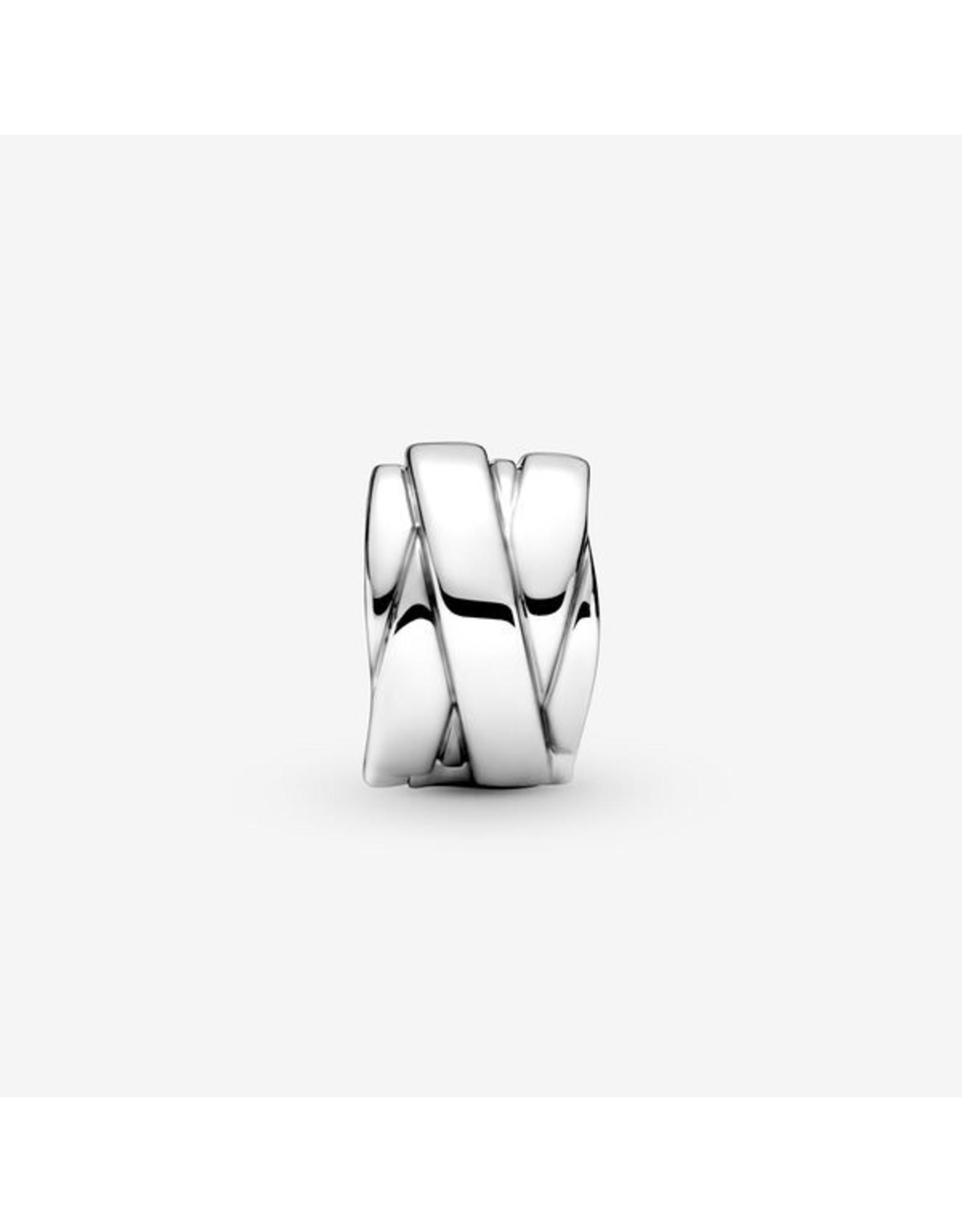 Pandora Pandora Charm,799502C00, Polished Ribbons Clip