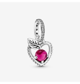 Pandora Pandora Charm,399553C01, Disney Snow White Apple Dangle, Cerise Crystal & Clear CZ