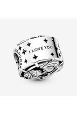 Pandora Pandora Charm, 799506C00, Star Wars Han Solo & Leia Kiss