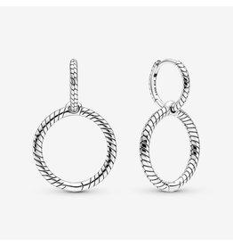 Pandora Pandora Earrings,299562C00, Double Hoop