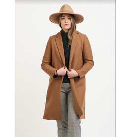 Dex Lapel Collar Open Jacket, Camel