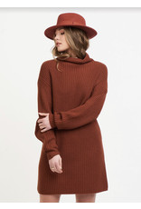 Mock Neck Sweater Dress, Rustwood