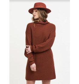 Dex Mock Neck Sweater Dress, Rustwood