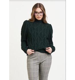 Cable Knit Sweatshirt, Pine