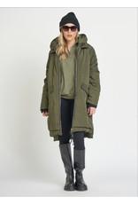 Dex Hooded Puffer Jacket. Khaki