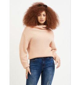 Dex Mock Neck Sweater, Peachy
