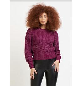 Open Stitch Sweater, Magenta