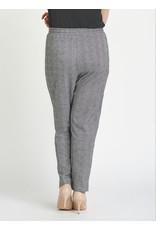 Dex Elastic Waist Plaid Trouser,  Black/White