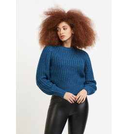 Open Stitch Sweater, Dark Teal