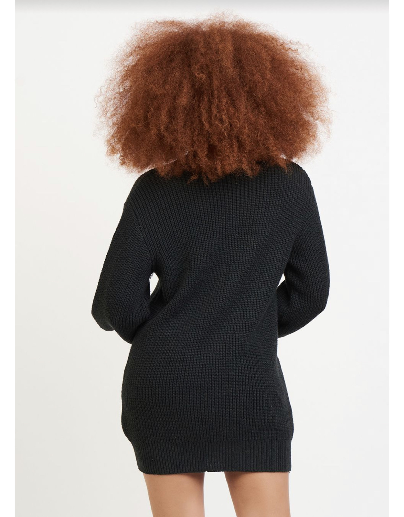Dex Cocoon Sweater Dress, Charcoal