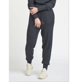 Ribbed High Waist Jogger Pants, Dark Charcoal
