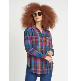 Dex Front Button Shirt, Multi Purple
