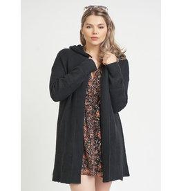 Dex Open Front Hooded cardigan Sweater