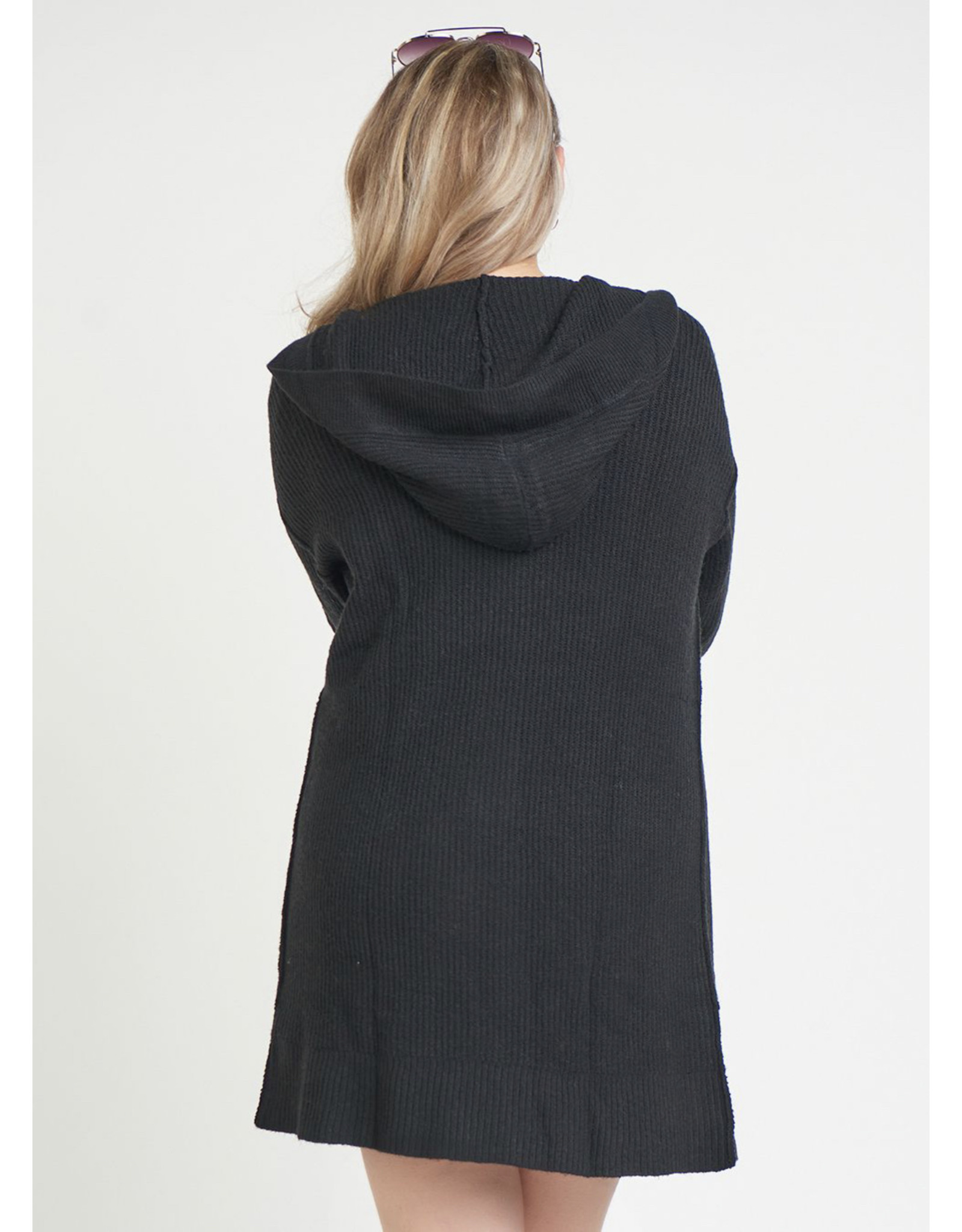 Open Front Hooded cardigan Sweater