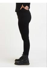 Dex Plus Faux Suede Leggings, Black