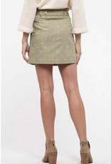 Blu Pepper Blu Pepper, Polka Dot Mini Skirt, Olive