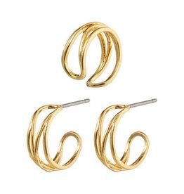 Pilgrim Pilgrim Earrings Native Beauty, Gold