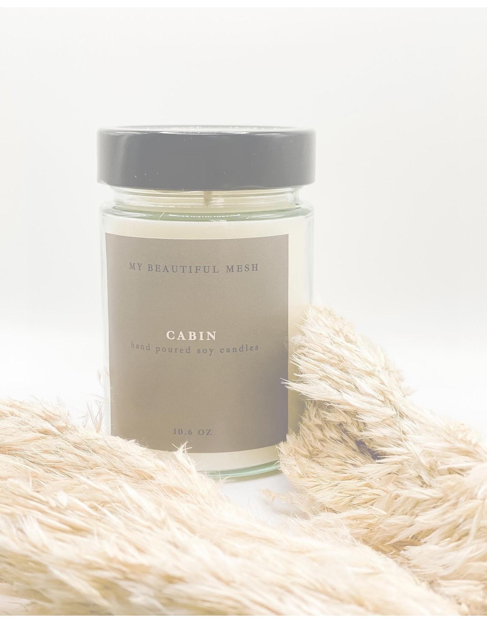 My Beautiful Mesh Cabin Candle, 10.6oz