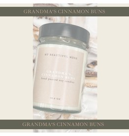 My Beautiful Mesh Grandma Cinnamon Buns Candle, 3.5oz