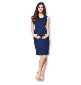 Star Motherhood, Front Pleated Dress, Navy