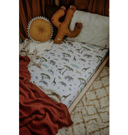 Snuggle Hunny Snuggle Hunny, Fitted Cot Sheet, Safari