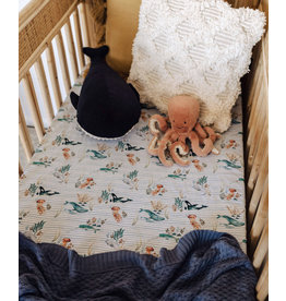 Snuggle Hunny Snuggle Hunny, Fitted Cot Sheet, Whale
