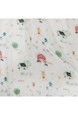 Loulou Lolipop Muslin Swaddle-Farm Animals
