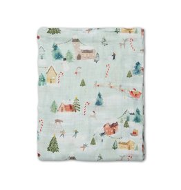 Loulou Lolipop Muslin Swaddle, Merry And Bright