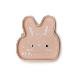 Loulou Lolipop Silicone Bunny Snack Pack Plate, Born To Be Wild