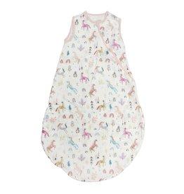 Loulou Lolipop Muslin Sleep Bag, Unicorn Dream 3-12M